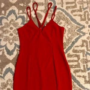 Charlotte Russe red form fitting mini dress